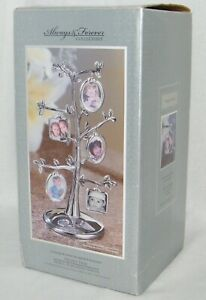 New Chrome Plated Multi Photo Tree Frame - 5 Double Sided / Holds 10 Photos