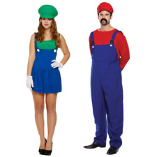 Adults Mario Fancy Dress Costume Mens Womens Plumber Outfit World Book Week