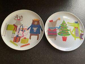 Set Of Two Christmas Melamine Plates From World Market
