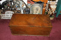 Antique Handmade Wood Storage Trunk Chest Americana Country Decor Large