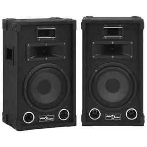 vidaXL 2x Professional Passive Hifi Stage Speakers 800 W Black Party Club