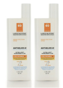 2 Pack La Roche-Posay Anthelios 60 Ultra Light Sunscreen SPF 60 1.7 oz Exp 4/21+