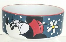 Disney Minnie Mouse Daisy Hat Ceramic Pet Food / Water Dish Bowl