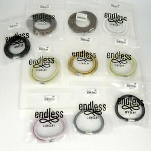 10pc Jennifer Lopez ENDLESS Jewelry Multi Color Leather Wrap Charm Bracelets.