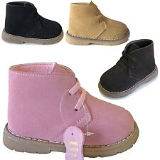 NEW Baby Boots Classic Solid Colored Cute Leather Booties Toddler Shoe Size 3-8