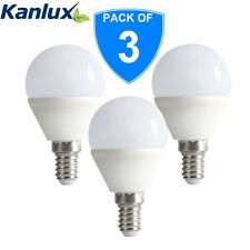 3x Kanlux 4.5W SMD LED 48W Equivalent Golfball Golf Ball Light Bulb Cool White