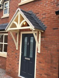 """Timber Front Door Canopy Porch, """"BLAKEMERE Curved  GALLOWS""""awning canopies"""