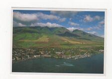 Lahaina Harbor & Town USA 1997 Postcard 428a