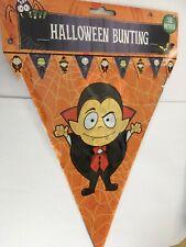3.6m Halloween Bunting Plastic Flag Banner Vampire Orange NEW