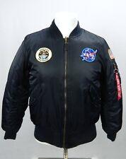 Alpha Industries ma-1 NASA Apollo Blue Flight Bomber Jacket XS