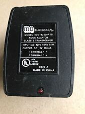 MG Electronics Plug In Class 2 Transformer with Fuse model MGT12500RTS 12vac