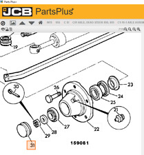 Jcb 3Cx Backhoe Nuts and Grease Cap. Part 26 and 31