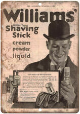 "Williams Shaving Stick Shave Cream Ad 10"" X 7"" Reproduction Metal Sign ZF127"