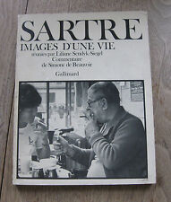JEAN-PAUL SARTRE images d'une vie - 1st PB Gallimard 1978 - photographs Beauvoir