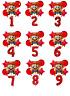 Mario RED Balloon Kit Super Mario 30'' Age Number Happy Birthday 6 Balloons