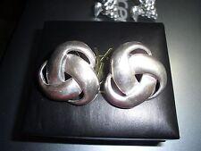 VINTAGE STERLING SILVER EARRINGS PIERCED KNOT DESIGN 925 EARRINGS MEXICO $30.00