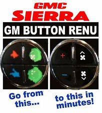 GMC Sierra Climate Control A/C Worn Peeling Button REPAIR Decals Stickers