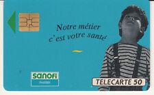 France télécarte 50 SANOFI pharma