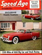Speed Age Magazine November 1953 Frantz Custom VG No ML 051917nonjhe
