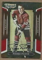 2008 Donruss Legends Hockey card signed Pierre Pilote Chicago Blackhawks