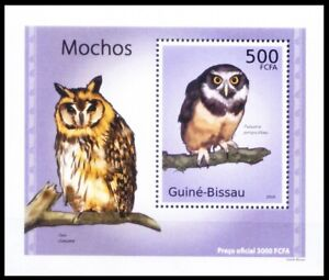 Guinea Bissau 2010 MNH MS, Spectacled owl, Birds of Prey