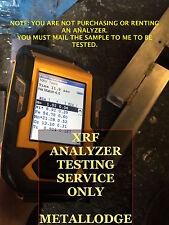 XRF METAL ANALYSIS TESTING THERMO NITON XL3 XRF ANALYZER SERVICE ONLY