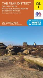 OS Explorer Map OL1 The Peak District: Dark Peak Area OS Explorer