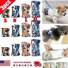 3 Packs Dog Diapers Male Belly Band Wrap LEAK PROOF Washable ULTRA ABSORBENT