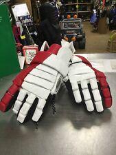 Warrior Lacrosse Gloves Size Med Red/White New
