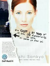 Publicité Advertising 089  1998   Volkswagen  Golf Match II  shi Sankyo  vw