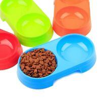 Mascotas Perros Comedero Dobles Agua y Comida Plastico Gato Alimentadores Envase