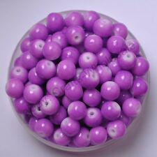 50pcs purple Quality Czech GLASS Round Loose Spacer BEADS Choose 6MM