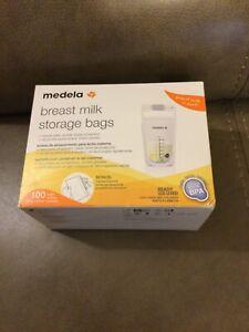 MEDELA BREAST MILK 100 STORAGE BAGS (NEW)