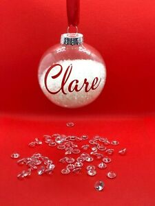 Personalised Christmas Bauble, tree decoration, Christmas Bauble, ornament