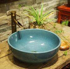 Crackle Effect Glaze Bathroom Cloakroom Ceramic Counter Top Wash Basin Sink Bowl