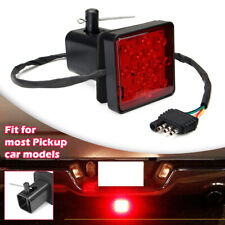 """With 15 LED 2"""" Trailer Hitch Receiver Cover Brake Leds Light Tube Cover w/ Pin"""