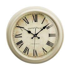 Vermont Wall Clock Watch Home Office Living Room Retro Cream Plastic Timepiece