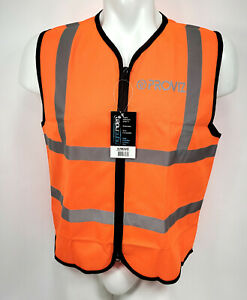 Proviz Nightrider Orange Reflective Safety Vest, Adult Size Small