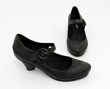 Pumps Hush Puppies Spange Echtleder schwarz anthrazit Gr. 37