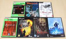 7 PC juegos colección arañazos Drácula Resurrection Nosferatu residentevil 4