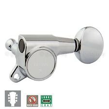 NEW Gotoh SG381-05 Sealed Tuners L3+R3 Set Keys Small Oval Button 3x3 - CHROME