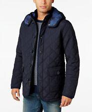 Tommy Hilfiger Mens Guberman Quilted Jacket Blue Sz L $169