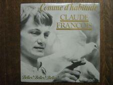CLAUDE FRANCOIS 45 TOURS FRANCE COMME D'HABITUDE 1987