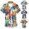 NEW Men's Hawaiian T Shirt Summer Holiday Floral Beach Short Sleeve Tops Blouse