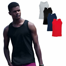 Fruit of the Loom Athletic Vest Unterhemd ärmelloses Muskelshirt T-Shirt