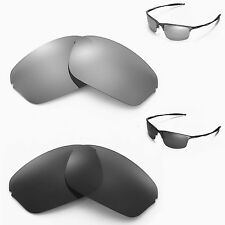 New Walleva Polarized Black +Titanium Lenses For Oakley Half Wire 2.0 Sunglasses