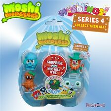 Moshi Monsters Moshlings Series 4 5 Figure Pack 7 Woolly O'Really Shelly HipHop