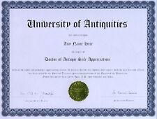Doctor Antique Safe Appreciation Novelty Diploma