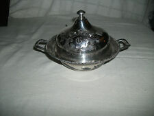 Taunton vintage silver dome butter dish #2903 quad plate