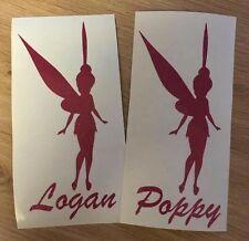 Personalised Fairy Unicorn Glitter Water Bottle Vinyl decal sticker School Dance